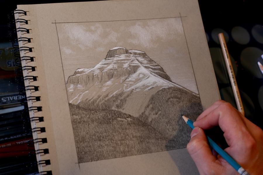Exercise #12 – Mountain Scene#1