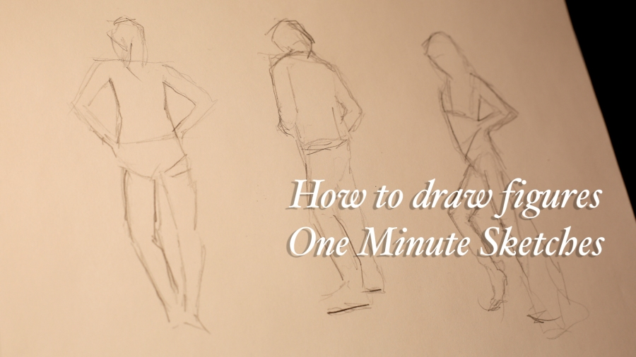 Sketchbook Exercise #14 – 1 minute figure sketches