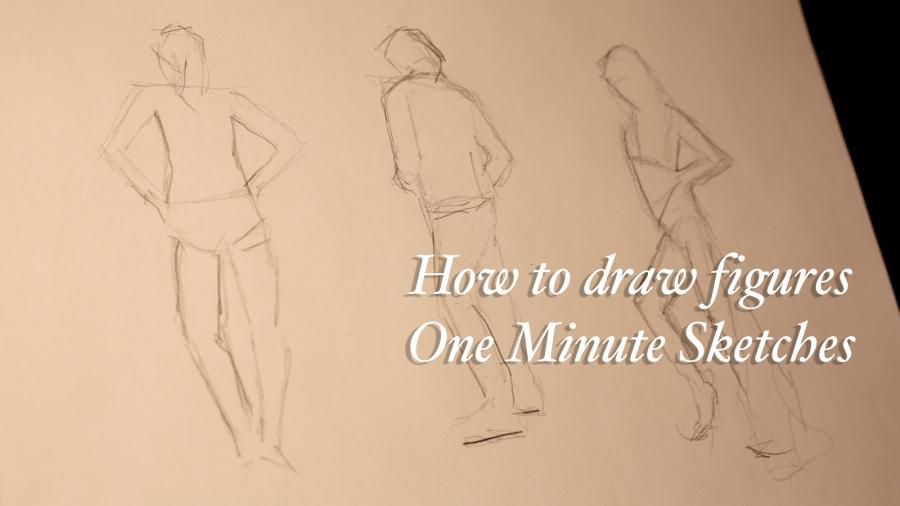 Sketchbook Exercise #14 – 1 minute figuresketches